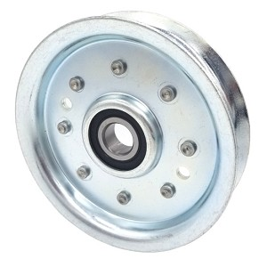 Flat Idler Pulley - 4'' Flat Dia. - 5/8'' Bore - Steel