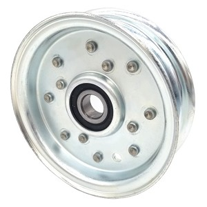 Flat Idler Pulley - 4'' Dia. - 5/8'' Bore - Steel