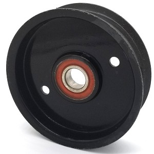 Hustler 601488 Flat Idler Pulley - 4'' Dia. - 17mm Bore - Steel