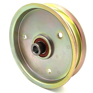Flat Idler Pulley - 5'' Flat Dia. - 1/2'' Bore - Steel
