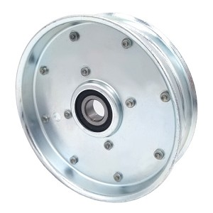 Flat Idler Pulley - 5'' Flat Dia. - 5/8'' Bore - Steel