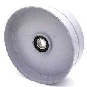Flat Idler Pulley - 6'' Flat Dia. - 17mm Bore - Steel