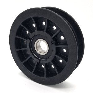 Flat Idler Pulley - 3.5'' Flat Dia. - 17mm Bore - Plastic