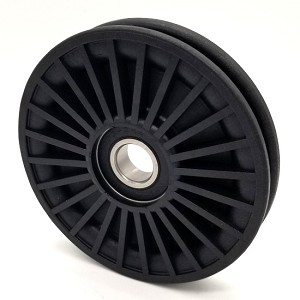 Rope Idler Pulley - 4.5'' Dia.- 17mm Bore - Plastic
