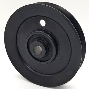 MTD: 756-1208, V-Groove Idler Pulley - 4'' Dia.- 3/8'' Bore - Steel