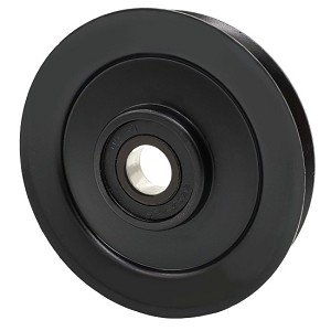 V-Groove Idler Pulley - 4'' Dia.- 17mm Bore - Steel
