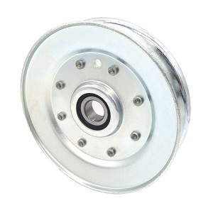 V-Groove Idler Pulley - 5'' Dia.- 5/8'' Bore - Steel