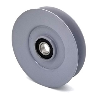 V-Groove Idler Pulley - 5'' Dia.- 17mm Bore - Steel