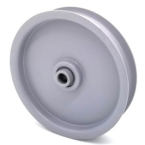 Flat Idler Pulley - 4'' Flat Dia. - 3/8'' Bore - Steel