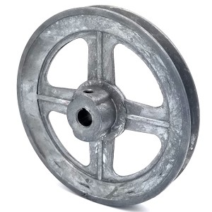 V-Groove Drive Pulley - 6'' Dia. - 1/2'' Bore - Die Cast