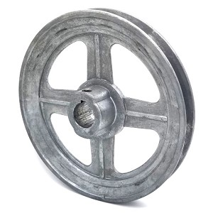 V-Groove Drive Pulley - 6'' Dia. - 3/4'' Bore - Die Cast