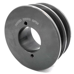 V-Groove Drive Pulley - 4'' Dia. - 1 5/8'' Bore - Cast Iron