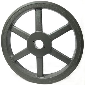 Double V-Groove Drive Pulley - 14'' Dia. - 1 5/8'' Bore - Cast Iron