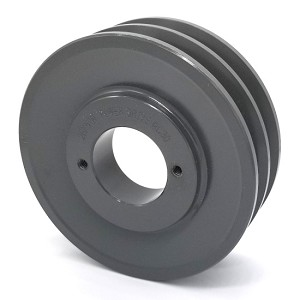 Double V-Groove Drive Pulley - 5'' Dia. - 1 5/8'' Bore - Cast Iron