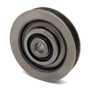 V-Groove Idler Pulley - 2.75'' Dia.- 3/8'' Bore - Steel